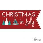 christmas in july, cricut, paper crafts