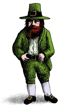 St Patrick's Day Leprechaun,Irish traditions, Irish stories, Tall Tales