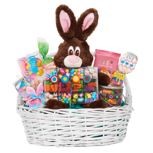 easter gift baskets, easter candy gift baskets, easter goodies, easter chocolates