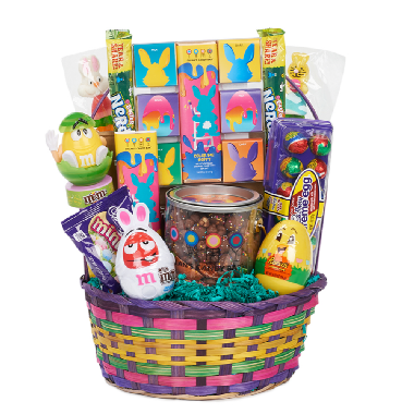 easter candy gift basket, chocolate easter gifts, easter chocolates, best easter candy