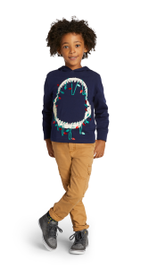 gymboree kids clothes, best time to be a kid, santa jaws sweatshirt