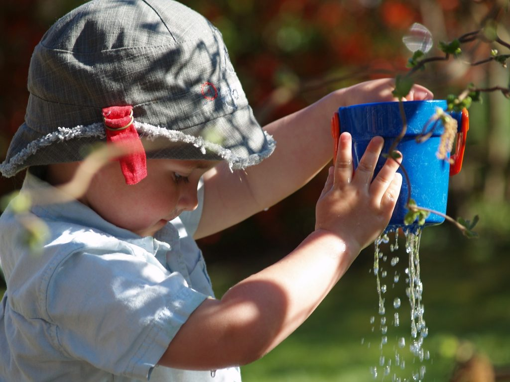 water fun for children, summertime water fun, playing in the summertime